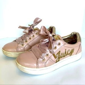 Juicy Couture Glendale Sneakers Pink Gold Girls 13